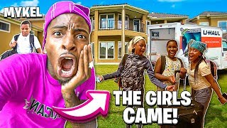 THE GIRLS CAME TO MY NEW HOUSE & MYKEL FINALLY MOVED IN!❤️