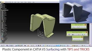 Plastic component in catia surfacing | catia basic surface with tips and tricks