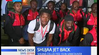 Kenya 7s jets back into the country to a jubilant mood