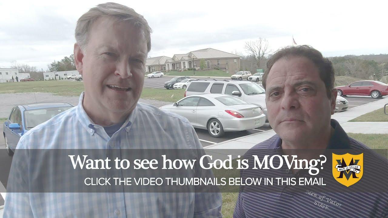 God is MOVing men to Christ