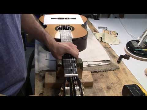 How to Change Strings on Classical Guitar with a 12 Hole Bridge
