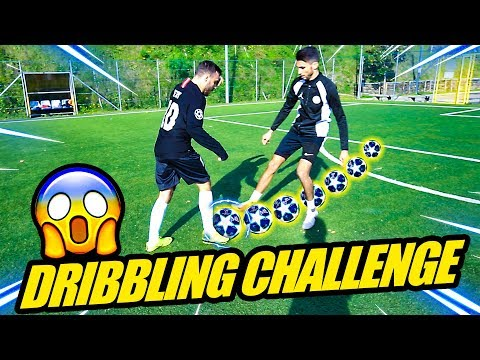 DRIBBLING SKILLS FOOTBALL CHALLENGE! w/Ohm, Footwork & Enry Lazza