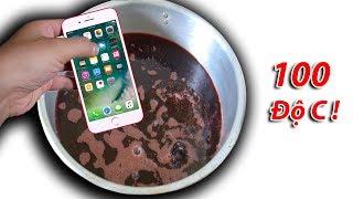 NTN - Thử Thả Iphone 7 Vào Nến Nóng Chảy 100 Độ C (Dipping iphone 7 to 100 degree melting candle)