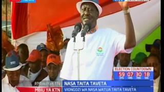 NASA flag bearer Raila Odinga woes residents of Taita Taveta in voting for his presidential bid