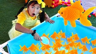 Jannie Pretend Play Catch Fish Carnival Games for Kids