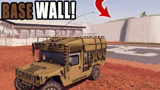CONSTRUCTING 100 FOOT WALL! | MILITARY BASE | FARMING SIMULATOR 2019