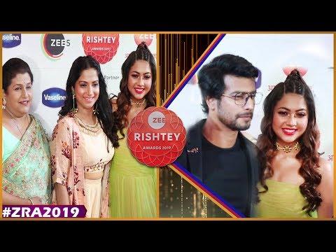 Zee Rishtey Awards 2019    Tujhse Hai Raabta Team   Reem shaikh , Sehban Azim   Zee Awards 2019