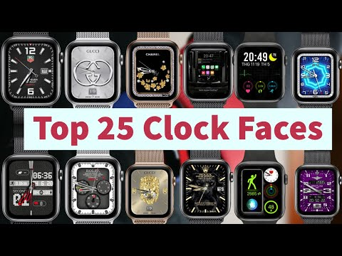 Top 25 Clock Faces For Apple Watch Beautiful | Clockology #9