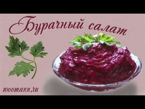 Рецепт салат из свеклы с чесноком