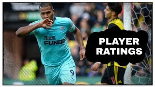 Player Ratings   Watford 1-1 Newcastle United