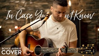 In Case You Didn't Know   Brett Young (Boyce Avenue Acoustic Cover) On Spotify & Apple