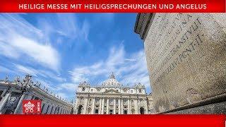 Papst Franziskus-Heilige Messe mit Heiligsprechungen und Angelus 2019-10-13