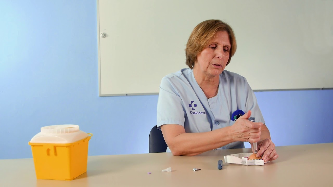 Vídeo sobre Diabetes. Inyección de Insulina