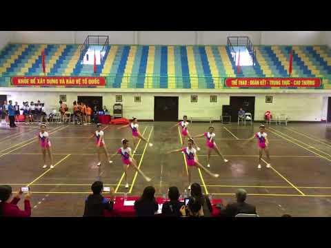 Thi Aerobic tại HKPĐ cấp Huyện năm học 2017-2018