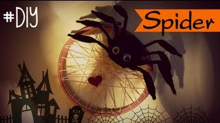 DIY HALLOWEEN:  SPIDER 3D - ARAÑA 3D