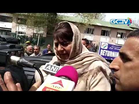 Mehbooba Mufti files nomination for Anantnag LS seat, hits out at Karan Singh over Article 370