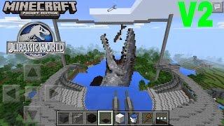Jurassic world in minecraft pe most popular videos jurassic world map review minecraft pocket edition gumiabroncs Choice Image