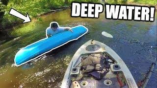 HE FLIPPED HIS KAYAK! Fishing trip gone wrong...