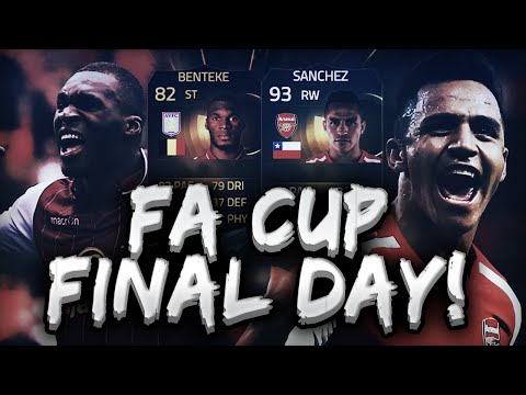 FIFA 15 - FA CUP FINAL DAY!!! ASTON VILLA VS ARSENAL SQUAD!!!