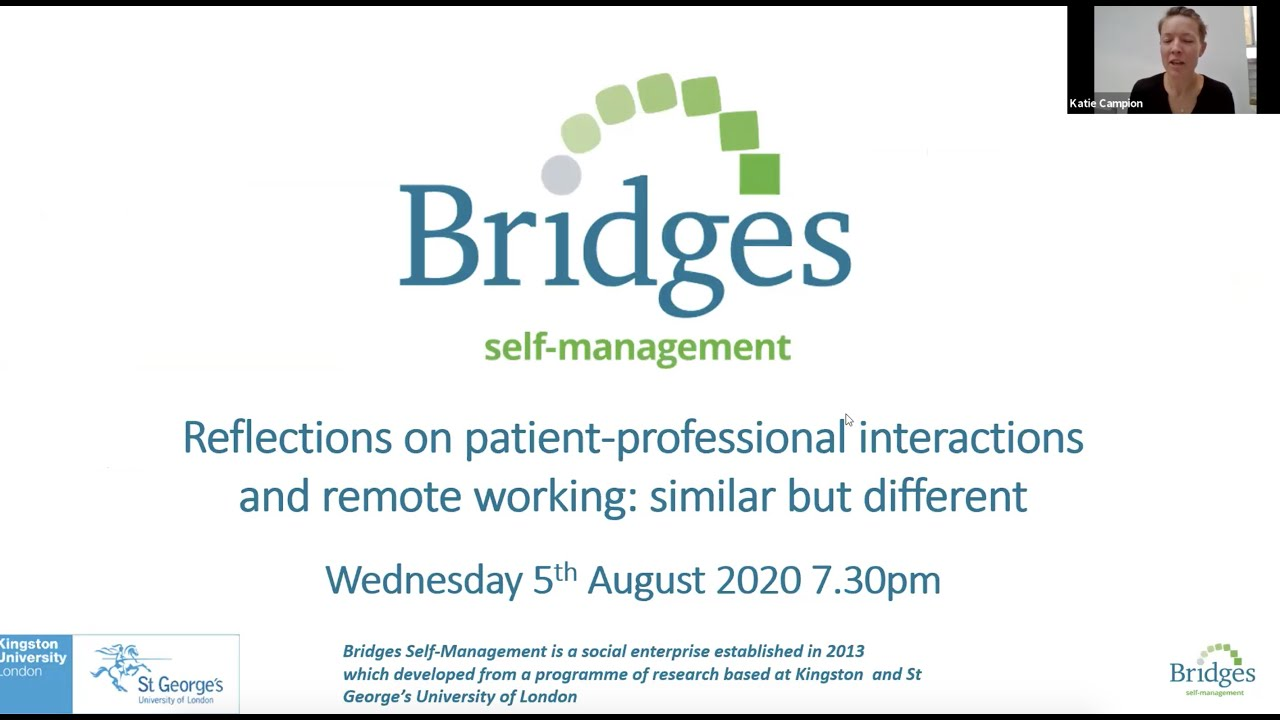 Reflections on patient and professional interactions and remote working: similar but different