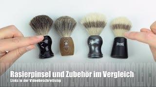 Rasierpinsel von Mühle, Edwin Jagger, Wilkinson und Zubehör im Vergleich/ Test (deutsch)