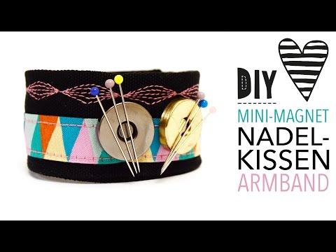 DIY Mini-Magnet-Nadelkissen-Armband nähen