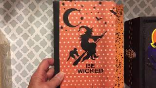 Halloween Altered Notebooks & Cigar Boxes ~ October 2018