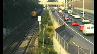 preview picture of video 'Railway Contrasts Alongside the A2 Rochester Way Relief Road'