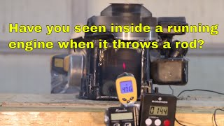 Running Cutaway Engine Throws Connecting Rod!
