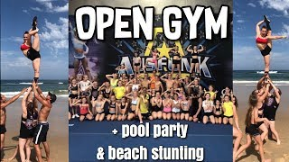 OPEN GYM VLOG | Ausfunk X Outlaws | + POOL PARTY & BEACH STUNTING