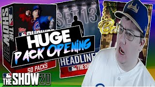 HUGE PACK OPENING! HEADLINERS SET 13 AND MULTIPLE BUNDLES! MLB THE SHOW 20 DIAMOND DYNASTY