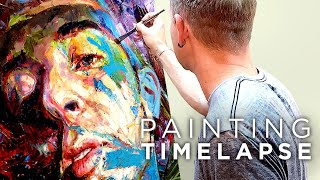 Process Time Lapse | Expressive Oil Painting Male Portrait