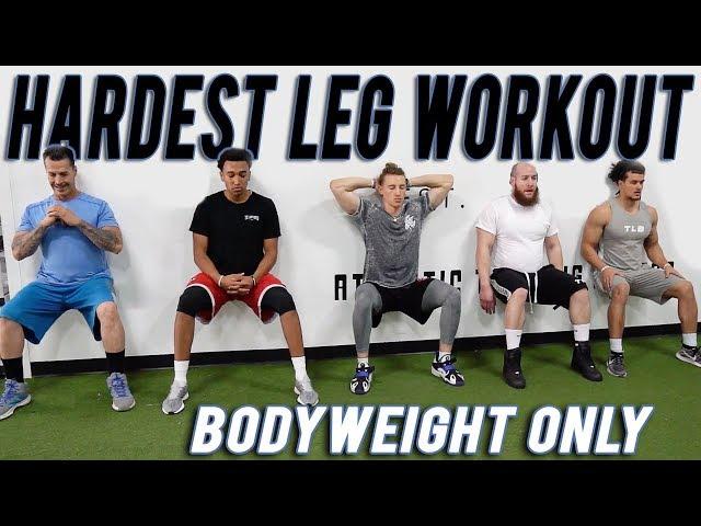 HARDEST BODYWEIGHT LEG WORKOUT