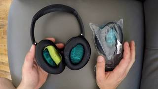 HOW TO - Replace Bose Headphones Ear Pads Cushions QC35 II QC25 QC15 AE2 AE2I AE2w