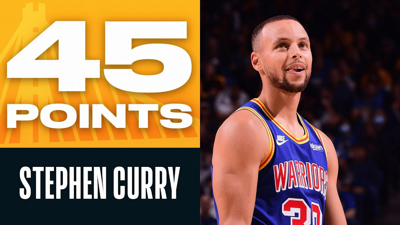 Steph Curry Posts SCORCHING 45 PTS & 10 REB 🔥