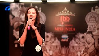 Stefy Patel's introduction at Miss India 2018 Jharkhand Auditions