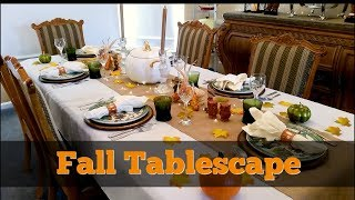 Fall Tablescape 2017 ~ Thanksgiving Table Decor ~ Dollar Tree, Pier 1, And Macys