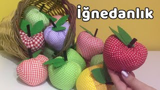Elma İğnedanlık - DIY Pincushion- YoncaHobby