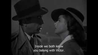 Casablanca Separate Ways Scene (HD & Sub)