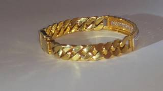 $11,990 2.75ct 22k GOLD MEN'S BRACELET - VVS1 F COLORLESS DIAMONDS