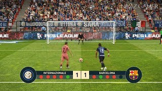 INTER vs FC BARCELONA | Penalty Shootout | PES 2019 Gameplay PC