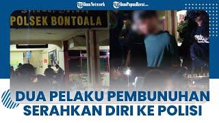 2 Pria di Makassar Menyerahkan Diri ke Polisi seusai Membunuh, Motifnya karena Tersinggung