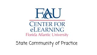 FAU State Community of Practice