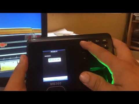 zk mb360 configuración ethernet