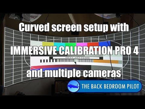 Setting up a curved screen with Immersive Calibration Pro 4 and multiple cameras (P3D v4)