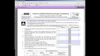 Qualified Retirement Savings Contributions Credit (Saver's Credit)