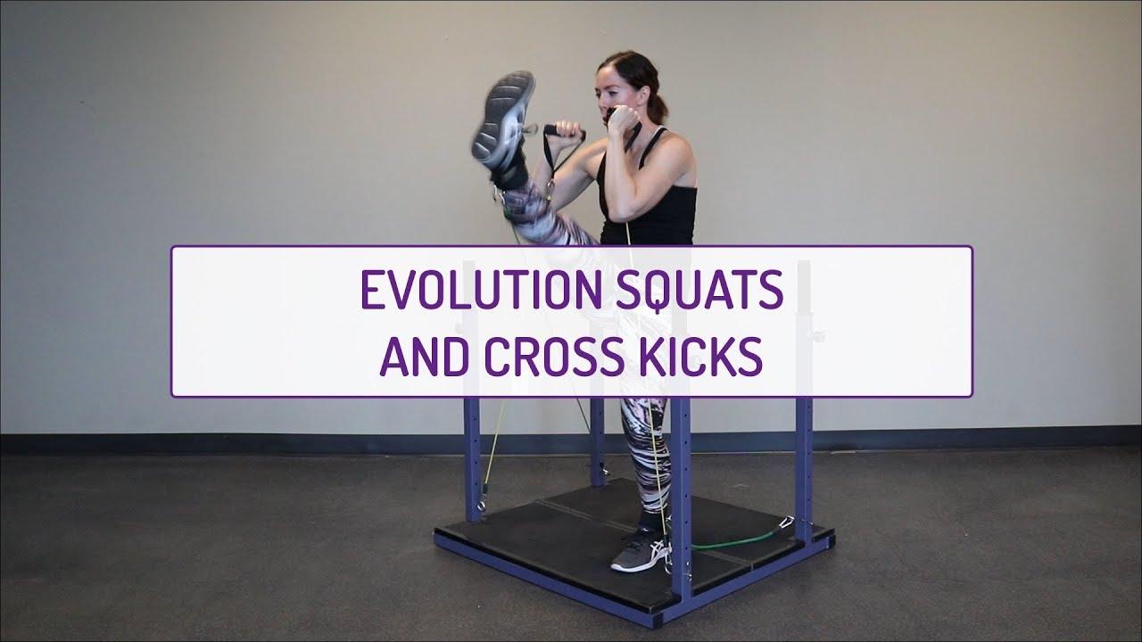 Evolution Squats and Cross Kicks