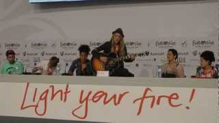 Eurovision 2012 : Soluna Samay - Should've Known Better Acoustic At Press Conference