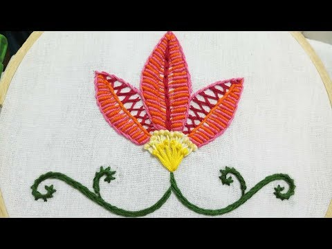 Download Hand Embroidery Border Embroidery Herringbone Stitch Video