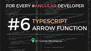 Typescript Tutorial for Beginners in Hindi #6: Arrow Functions in Typescript in Hindi [ Fat Arrow ]